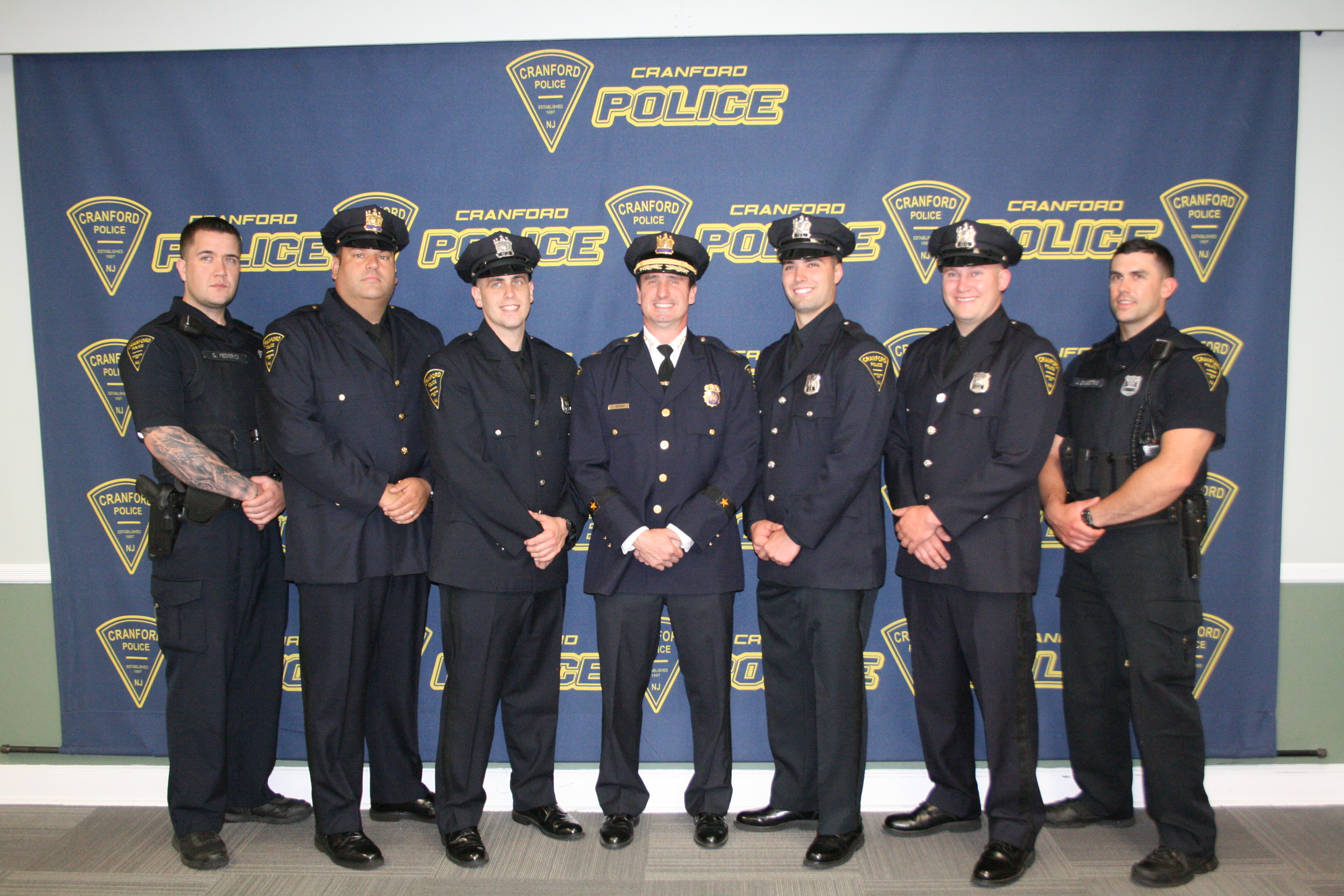 cranford police department recognizes outstanding officers