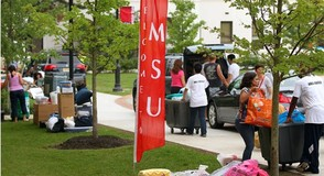 Move-in Day at MSU in 2013