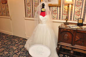 A gown from Chrissy O on display at the event.