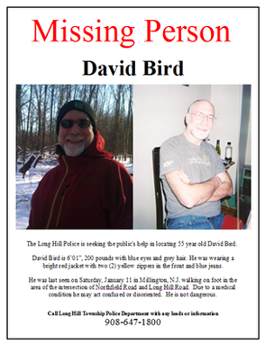 Search Enters Day 5  For Missing Man David Bird; Public Can Help By Sharing Information, photo 1