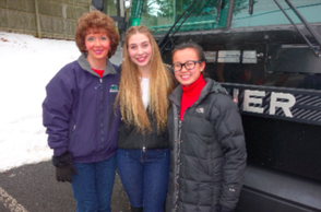 L to R, Trish Joyce, Artistic Director and Founder NJYC; Julia Galante Maplewood; Colby Thall South Orange