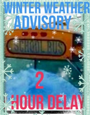 Winter Weather Advisory And 2 Hour Delayed Opening, Feb. 18, photo 1