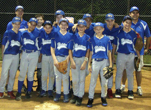 Coach Higgins guided the SPFBL 12U Suburban League Champions in 2012