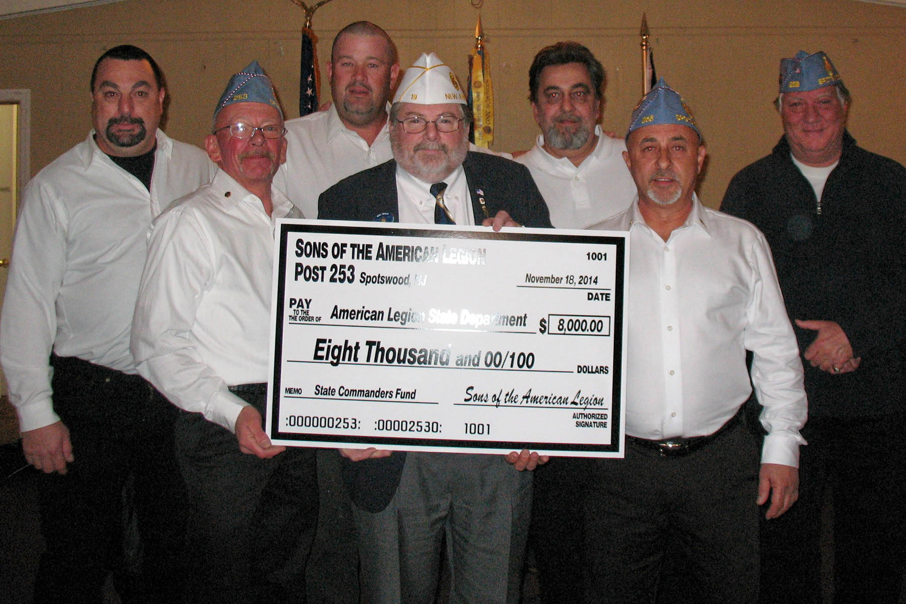 American legion nj commander receives 8000 donation for for American legion donation letter