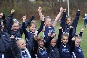 Flag Columbia Blue Cheerleaders