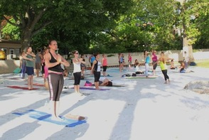 Nearing the end of 108 repetitions of Sun Salutations