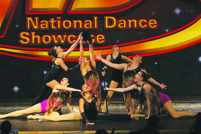 Members of The Connection's competitive dance team, The Crew, at the National Dance Showcase in Morristown NJ.