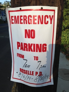Roselle Parking Notice - Road Paving, photo 1