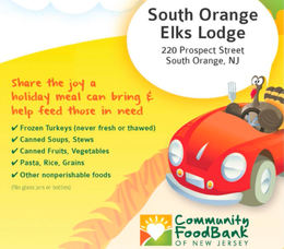 Turkey and Food Drive Saturday at South Orange Elks Lodge, photo 1