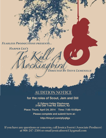 Auditions for 'To Kill A Mockingbird' - News - TAPinto