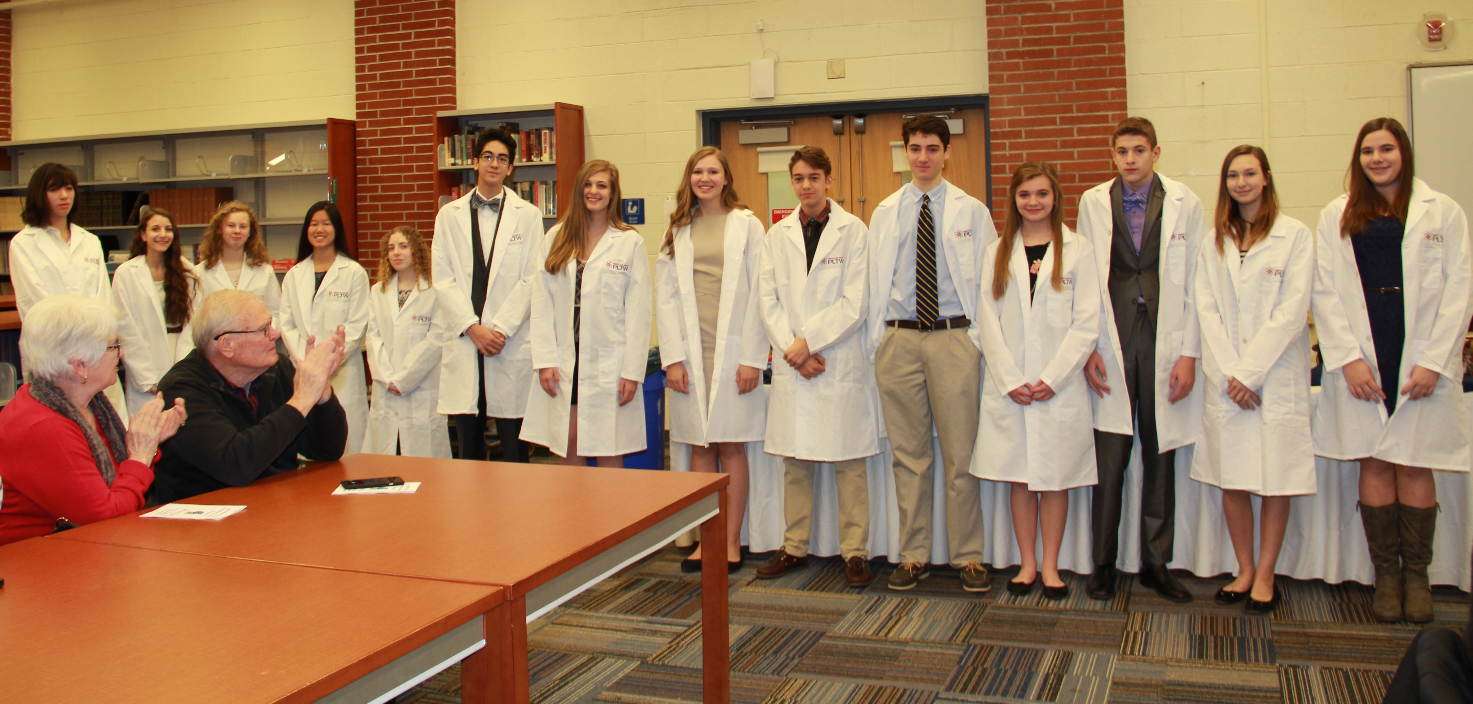 sparta high school stem academy students receive their white coats content options
