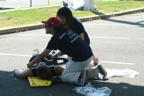 Students Learn EMS Procedures in Mass Casualty Drill, photo 10