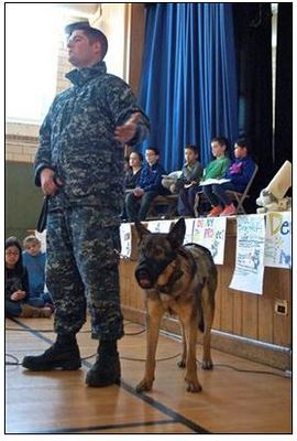 Hillside School Learns about the Role of Military Dogs