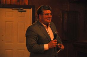 Senator Steve Oroho speaks about Sheriff Mike Strada.