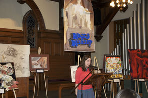 Lara Moehlman reads her essay on the plight of child brides.
