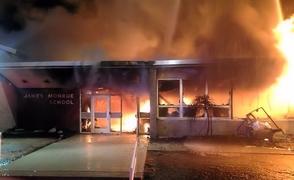 James Monroe Elementary School Fire