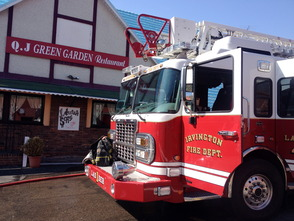 Q.J. Green Garden Restaurant Catches Fire in Millburn , photo 1