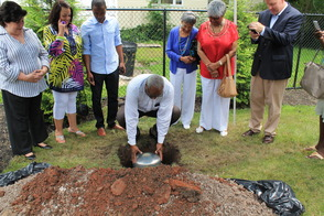 Roselle Community Joins Dr. Polk Family and Plants Time Capsule, photo 13