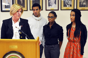 Fanwood Mayor Colleen Mahr honored Black History Month