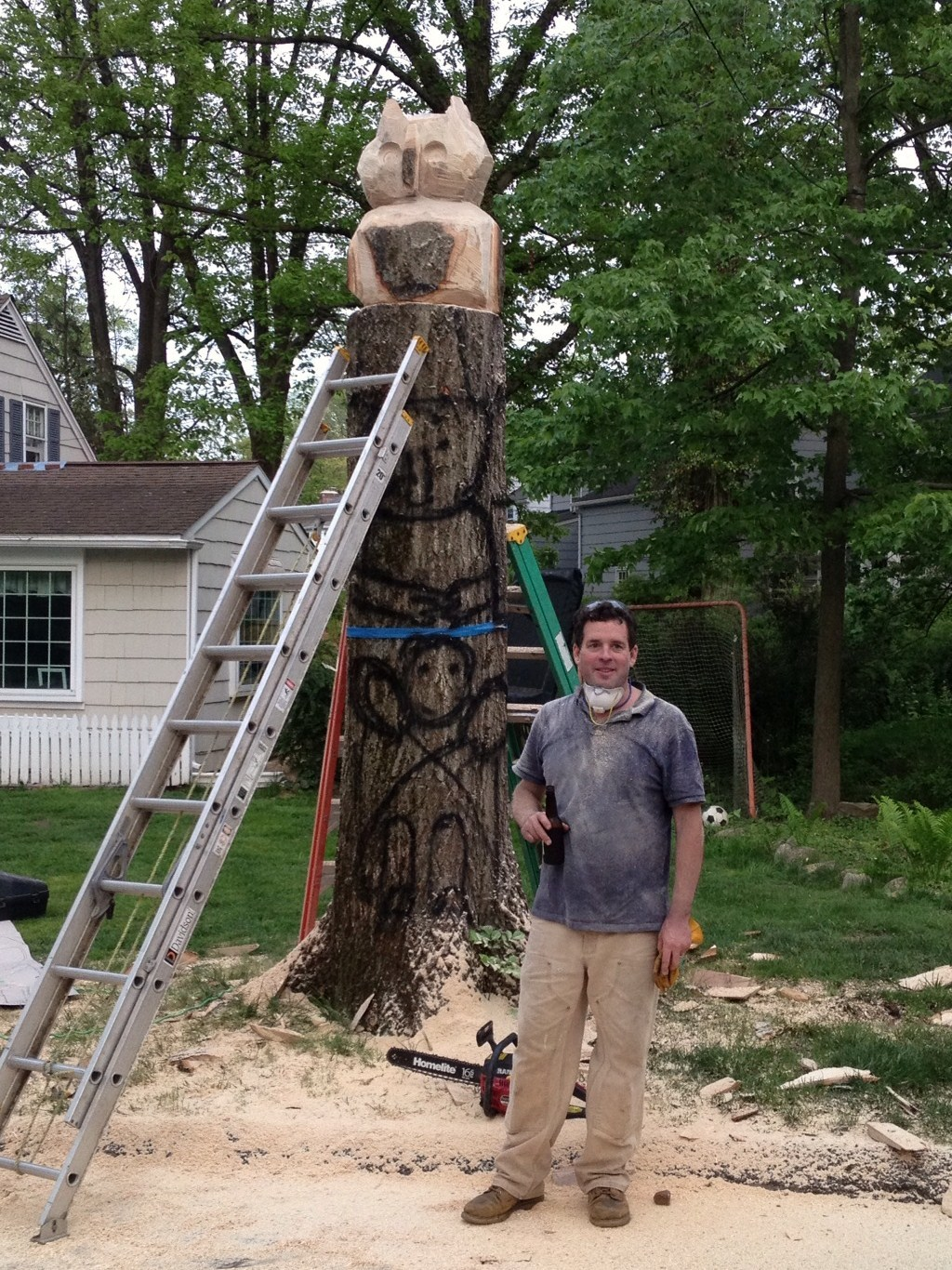 The edgewood road totem pole is a place to meet and take