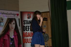 Kristina Lachaga on-stage at Lazar