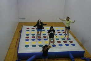 Inflatable Twister FUN at Project Graduation 2014