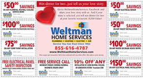 Deals From the Heart!  Febuary Home Services Offers, photo 1