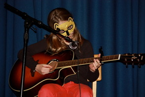 Jordan Haas, 4th grader, played What Does the Fox Say on guitar
