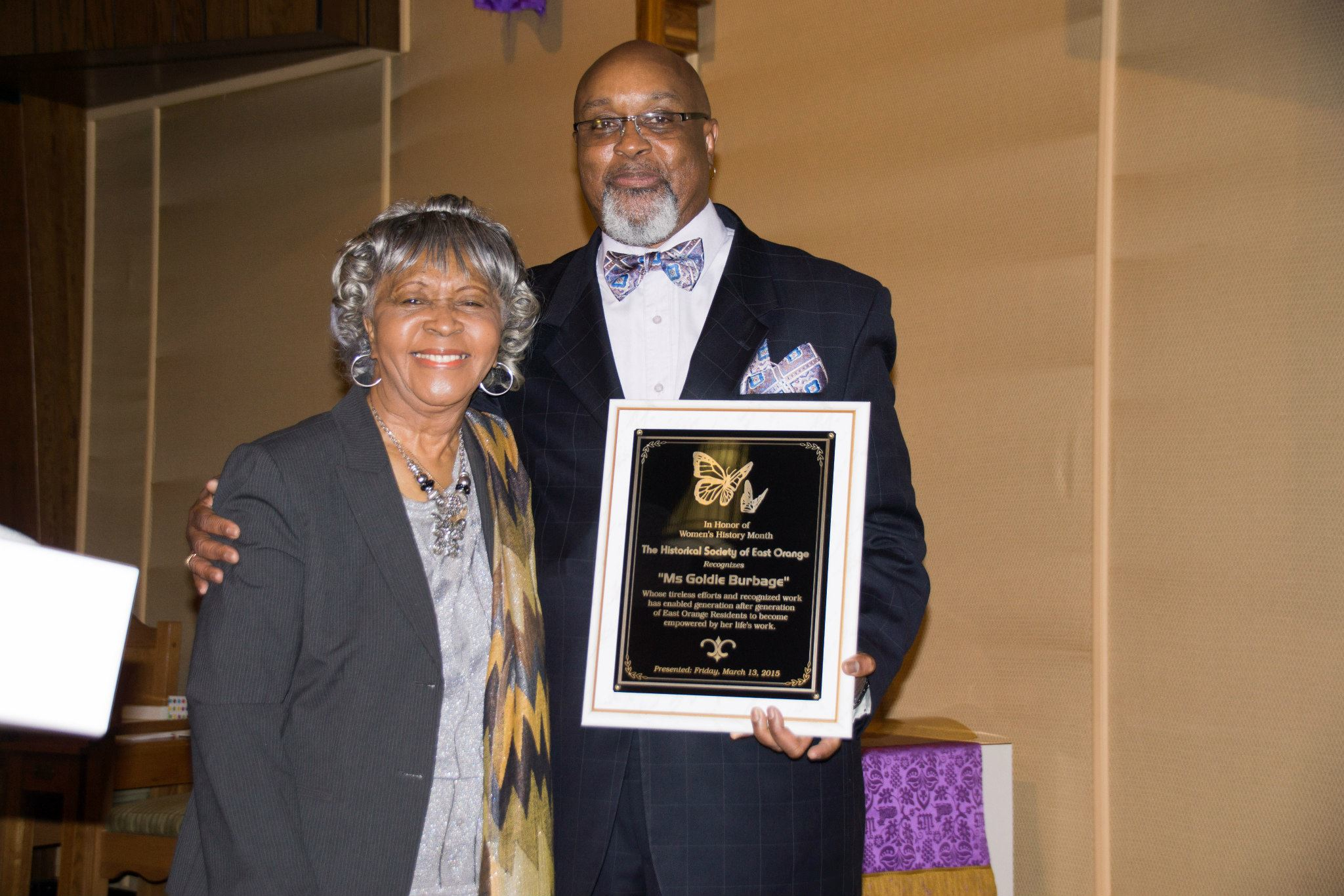 East Orange Historical Society Honors Goldie T. Burbage in Women's History Month Tribute