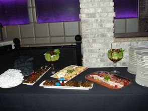 Table with hors d'oeuvre