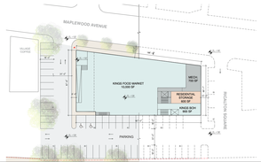 First Floor Site Plan for Maplewood Post Office Redevelopment