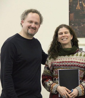Artistic Director Jeff Grogan and Composer Amanda Harberg