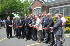 CP Engineers & Architecture partners, employees, and other special guests and dignitaries, cut the ribbon with Tammie Horsfield, President of the Sussex County Chamber of Commerce.