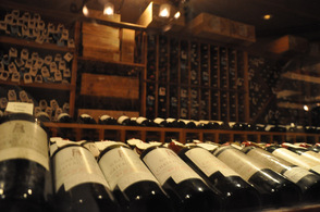 A view of some of the 135,000 wines at the wine cellar in Crystal Springs Resorts.