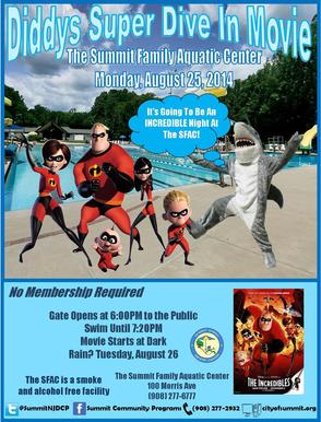 """The Incredibles"" Headlines Dive-In Movie Night at Aquatic Center Aug. 25, photo 1"