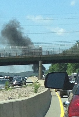 Corvette Car Fire Snarls Traffic for Miles Near Paterson, photo 3
