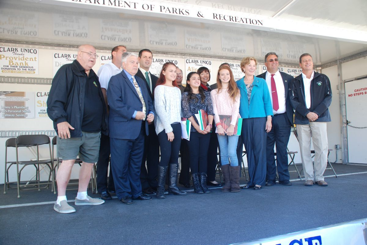 columbus remembered italian americans honored at clark unico members of clark unico welcomed essay winners and guests to the columbus day ceremony on sunday credits susan roselli bonnell