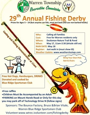 Warren Township Fishing Derby Set For Saturday, May 17, photo 1