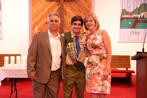 Ryan Balemian and his proud parents