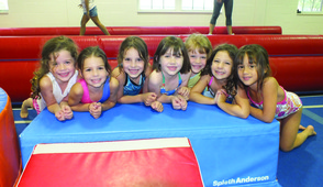 Girl's Gymnastics Camp is offered at The Connection June 23 – August 15.  Eight great weeks of flips and jumps will make even the novice feel confident!