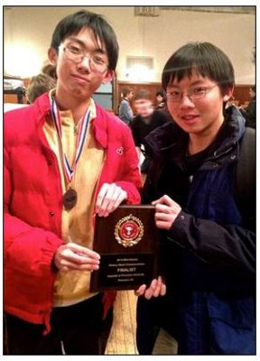 David Song and Chris Tseng at the Princeton Competition