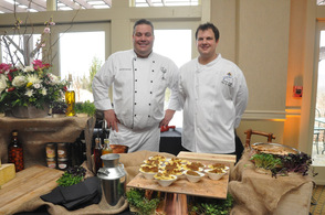 Crystal Springs Chefs Tim Fischer and Patrick Duffy, during the Mac & Cheese Cookoff.