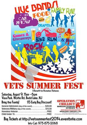 Invitation to Vendors for Vets Summer Fest, photo 1