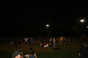 Awaiting Fireworks at Montville's 2014 Independence Day Celebration