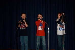 Dermot, Conor and Mary Grace Clifford sang Star Spangled Banner