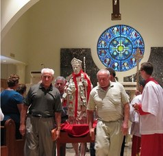 Procession follows the Mass in Italian at the St. Bart's Festival tonight