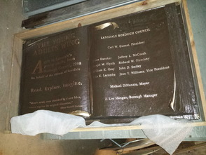 100-Pound Bronze 'Book' May Be Scrapped to Pay for Lansdale Library Memorial Garden, photo 1