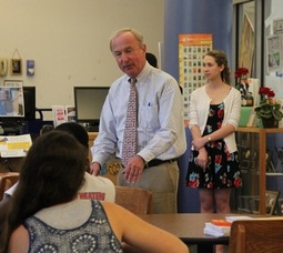 Congressman Rodney Frelinghuysen Visited Sparta Middle School