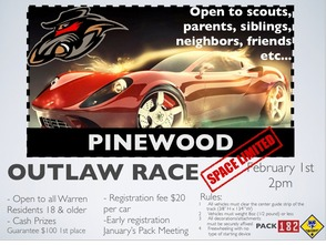 Warren Township Cub Scouts to Hold First Pinewood Derby Outlaw Race, photo 1