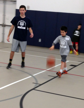 Participants learn dribbling and other basketball skills